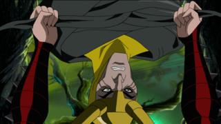 Amora tightening Loki's binds