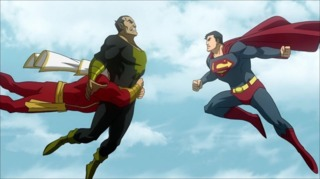 Superman battles Black Adam
