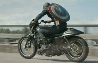 The motorcycle in The Winter Soldier