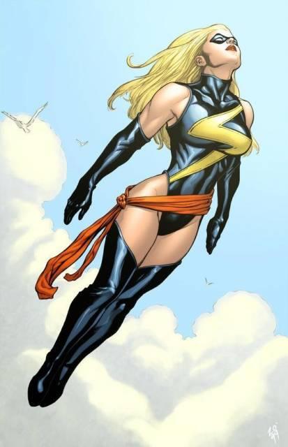 Ms Marvel in flight