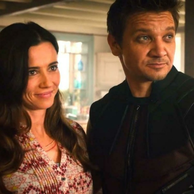 Hawkeye with his wife