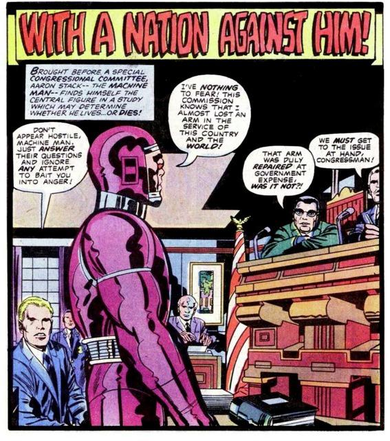 Congressional Hearing regarding Machine Man's sentience
