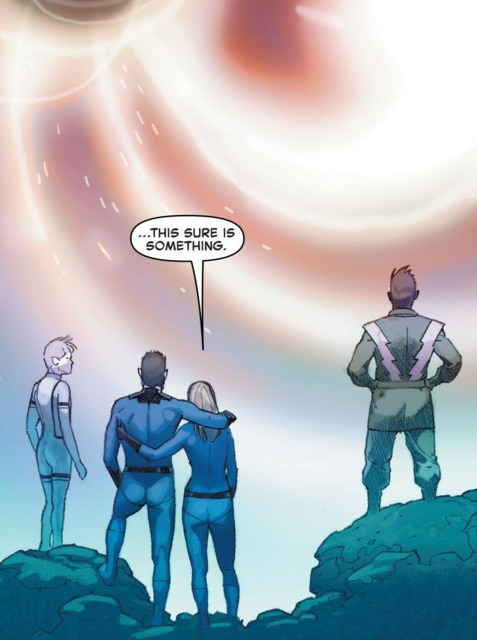 The Richards look upon a reborn universe