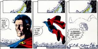 Death of Ultraman--art by George Perez.