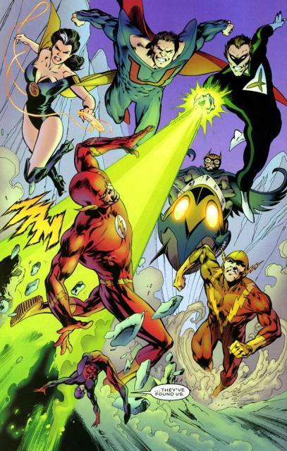 Ultraman and the old Crime Syndicate--art by Alan Davis.