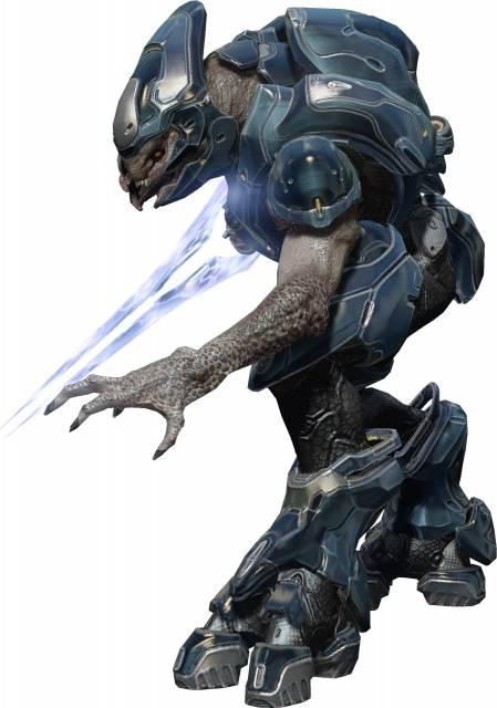 Elite, or Sangheili, as shown in Halo 4