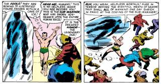 Inuit observe and are chased away when Captain America is found in Avengers #4 (1963)