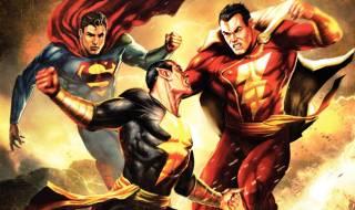 Superman and Captain Marvel face off against Black Adam