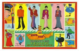 Poster inside Beatles: Yellow Submarine