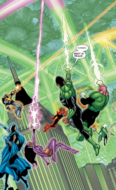 Yrra and her team protect Earth during Blackest Night