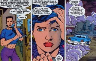 Carol returns home to find Coast City destroyed