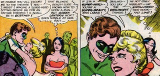 the start of a (very) bad date with Green Lantern