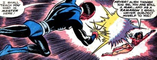 a duel with Sinestro