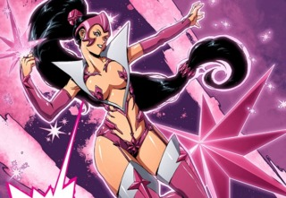 as Star Sapphire in Ame-Comi Girls