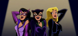 Huntress, Catwoman, and Black Canary in Batman: The Brave and The Bold