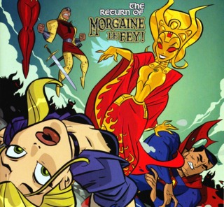 Morgaine in the Justice League Unlimited comic book