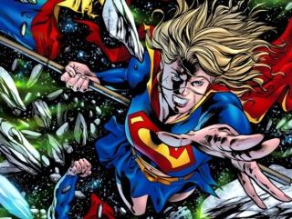 Supergirl in the Battle of Supermen