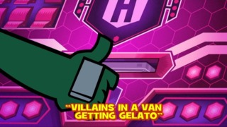 Villains in a Van Getting Gelato