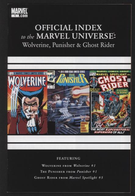 Wolverine, Punisher & Ghost Rider: Official Index to the Marvel Universe
