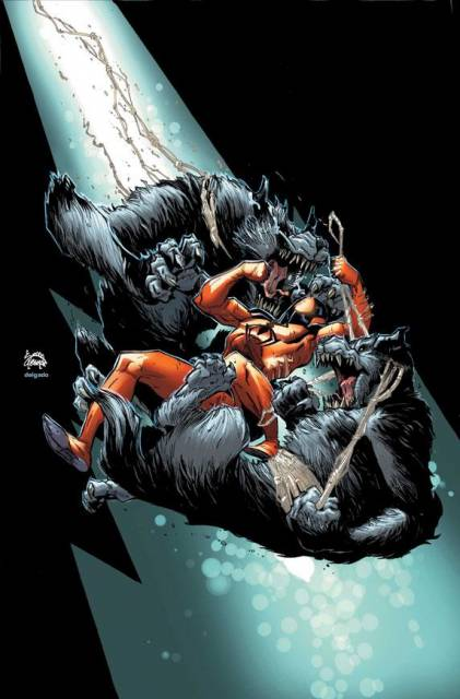 Kaine fighting against the werewolves