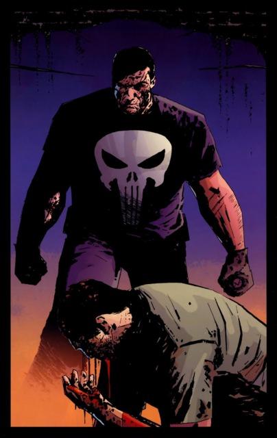 The Punisher fighting Jigsaw