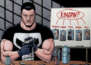 Punisher investigating the Kingpin