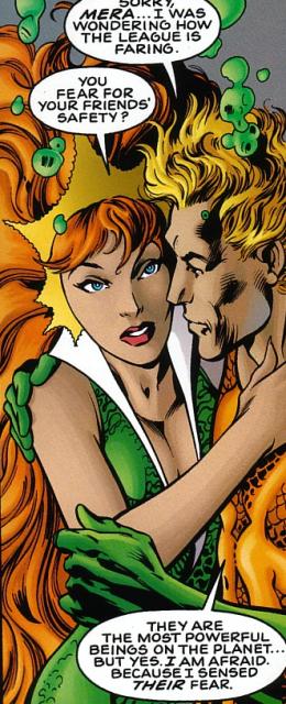 Mera and Aquaman in The Nail