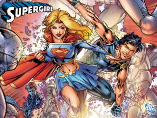 Supergirl and Power Boy