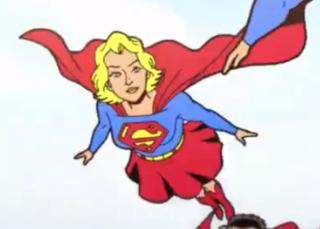 Supergirl in Superman Short