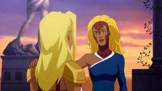 Harbinger and Kara in Superman /Batman