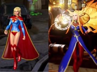 Supergirl and Arcane Supergirl