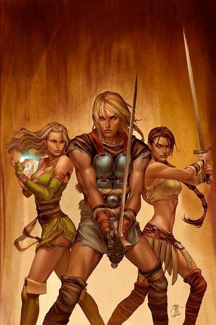 Sif, Amora & Thor