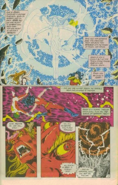 Lilith helping The Titans against Trigon