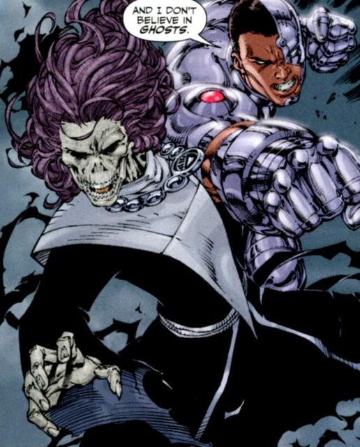 Cyborg VS Black Lantern Omen