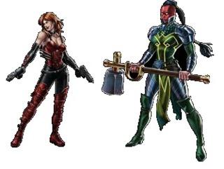 Marvel Avengers Alliance: Sin and Skadi