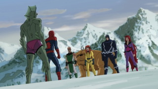 Crystal and The Royal Family in Ultimate Spider-Man
