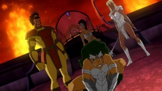 Stompa and the Female Furies in Superman/Batman: Apocapyse