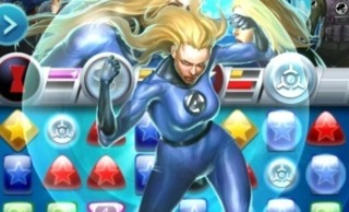Invisible Woman in Marvle Puzzle Quest