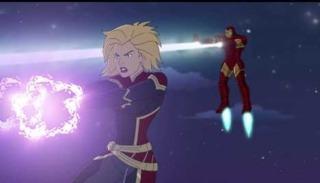Captain Marvel in Marvel Super Hero Adventures: Frost Fight!