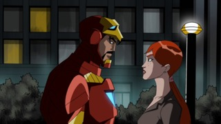 Pepper and Iron Man in Avengers: Earth's Mightiest Heroes