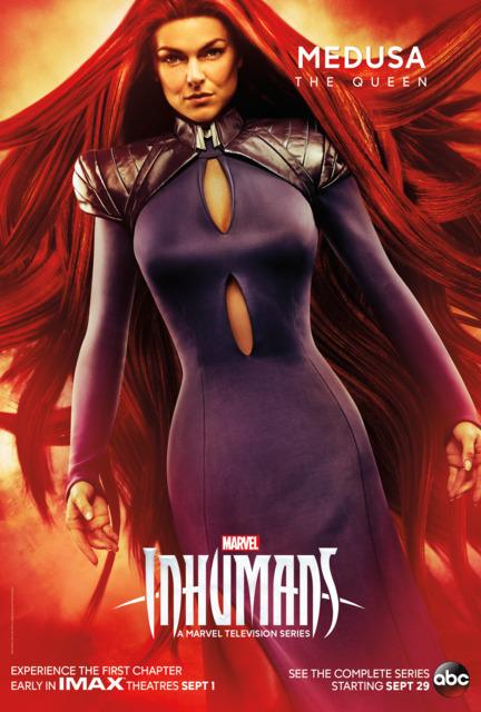 Serina Swan as Medusa in Inhumans