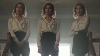 Skyler Samuels as the Stepford Cuckoos in The Gifted