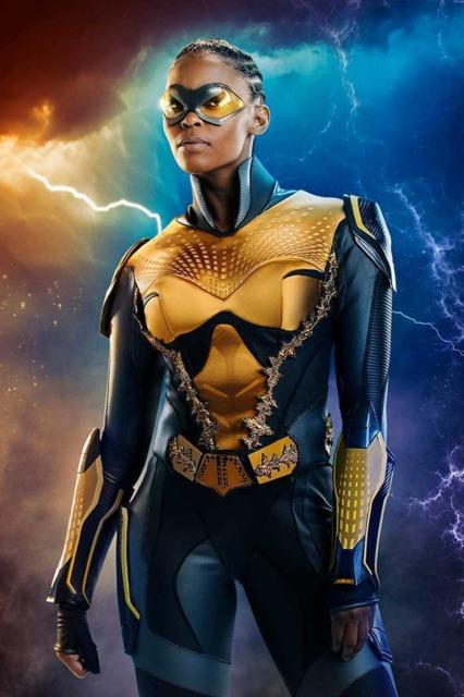 Nafessa Williams as Thunder in Black Lightning