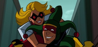 Jewelee and Punch in Batman; The Brave and The Bold