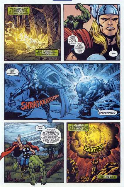 One-shot Hulk with a lightning bolt