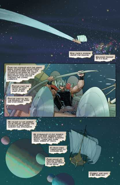 Thor without Mjolnir summons Solar Storms and Interstellar Winders