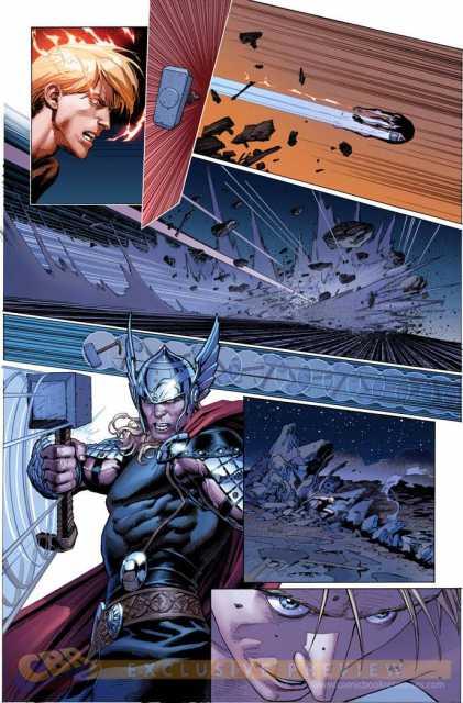 A hammer throw sends the Starbrand user flying