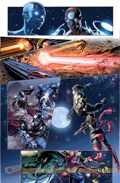 The Starbrand user hits Thor with a direct hit, and causes damage to Iron Man's amour, and Captain America's shield while they weren't hit by it