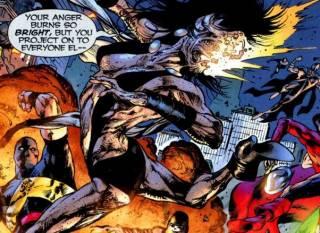 Dee reanimated as a Black Lantern