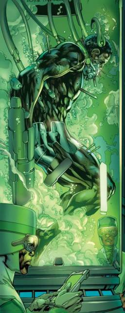 T'Challa, in a Wakandan comatose stasis chamber.